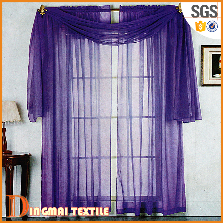 Latest design european style sheer thread curtains