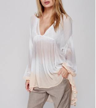 Bohemian Style Sexy Sheer Clothes No Bra Pictures Long Tail Tops And