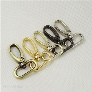 Zinc Alloy Metal Handbag/Lanyard/Dog Leash Swivel Rotating Snap Hook