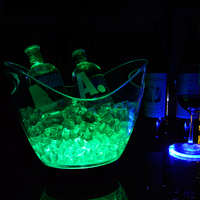 wholesale beer wine champagne acrylic led custom ice bucket led ice cooler