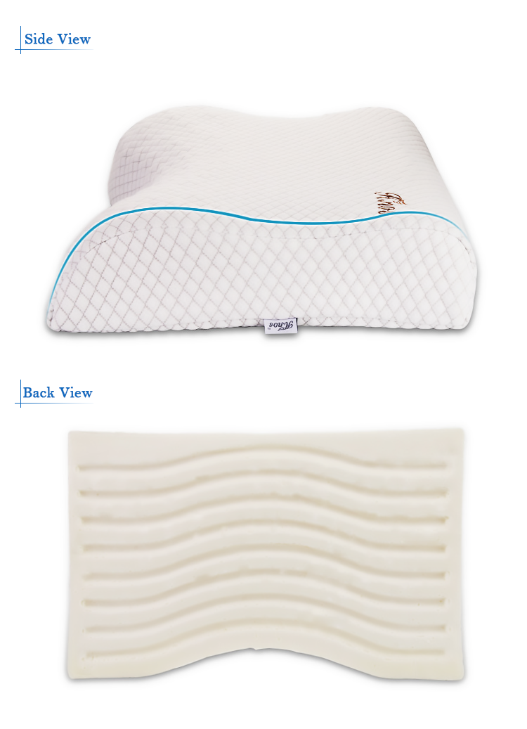Newest Comfort Memory Foam Ergonomic Bed Sleep Message Pillow Cervical Support Medical Pillow For Sleeping