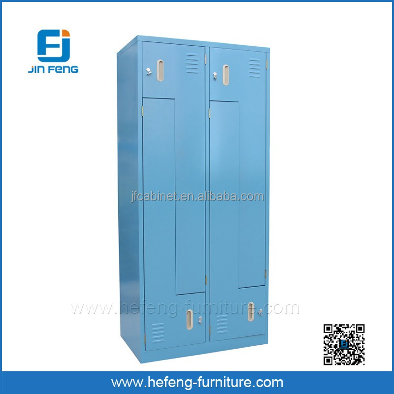 Four Z Shape Doors Steel Changing Room Clothes Lockers