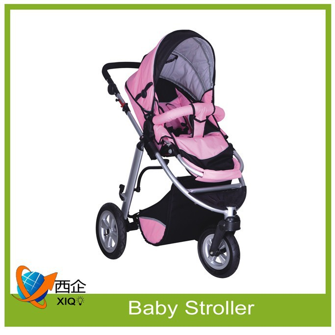 China factory baby stroller pushchair with hanging organizer bag