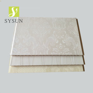 Printed laminated pattern insulation wpc wall board for wall