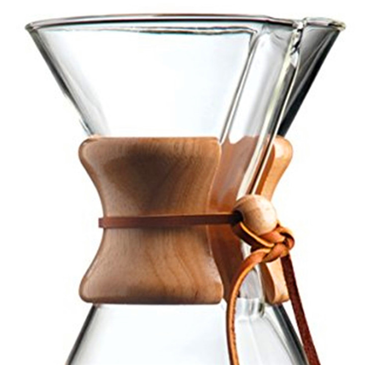 Borosilicate Glass Carafe with Reusable Stainless Steel Filter Pour Over Coffee dripper kettle