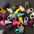 New 36 Colors Tassel Leather Baby Shoes Bling Moccasins Baby Toddler Shoes Unisex Newborn Baby Shoes