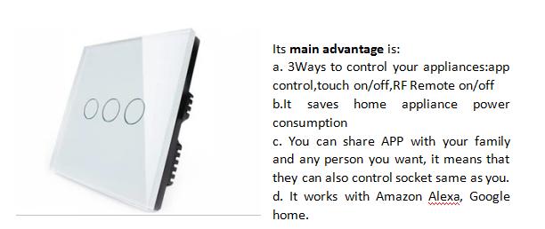 2020 новый дизайн ODM Smart Wifi выключатель света сенсорный экран для Умный дом автоматизации