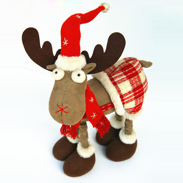 Freeshipping Reindeer Decoration For Christmas Table New Year's Dolls Christmas Toys Children's Christmas Gifts For Kids211732A