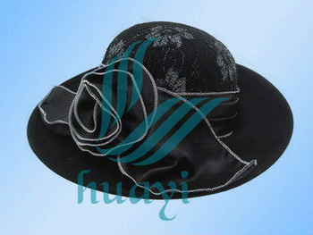 wide brim black wedding fascinators and hats wholesale
