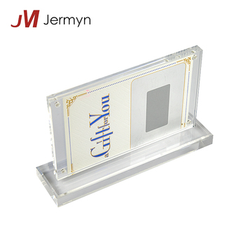 Custom Clear Acrylic Counter Business Gift Card Holder Display Stand