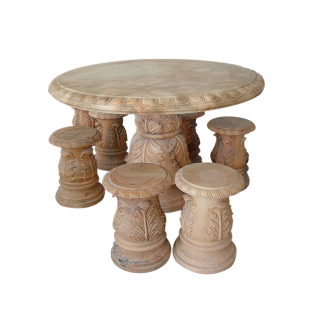 Hand Carved Modern Replacement Mixed Color Round Marble Table Top