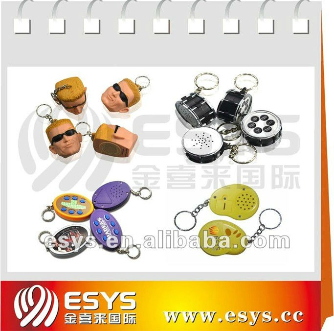 Talking Keychain,Sound Keyring,Musical Key chain