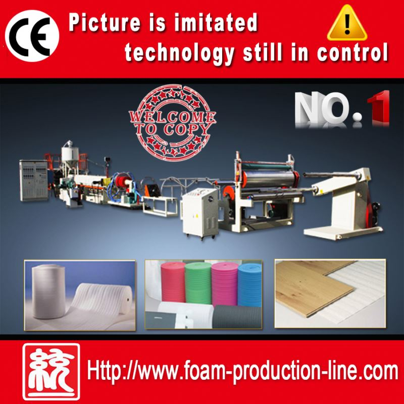 CE EPE foam sheet extruding machine (EPE-120)