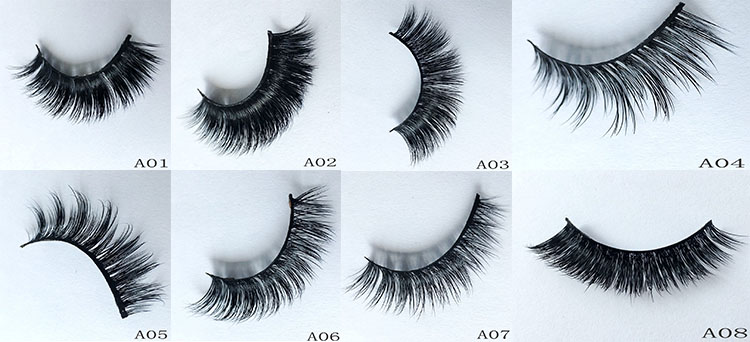 Own Logo Design Lashes Packaging 3D Silk Eyelashes Create Own Brand Lash