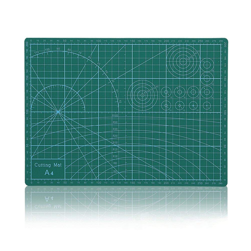 "Vankcp Cutting Mat,Self Healing Rotary Mat, 24""x36"" 18""x24"" 12""x18"" Professional Double-Sided Thick Non-Slip for Quilting, Sewing, Art Projects (Green, 18""x 24"")"