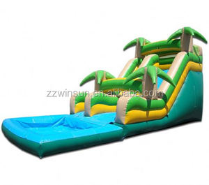 Inflatable 18 Tropical Water Slide bounce house,jumping castle