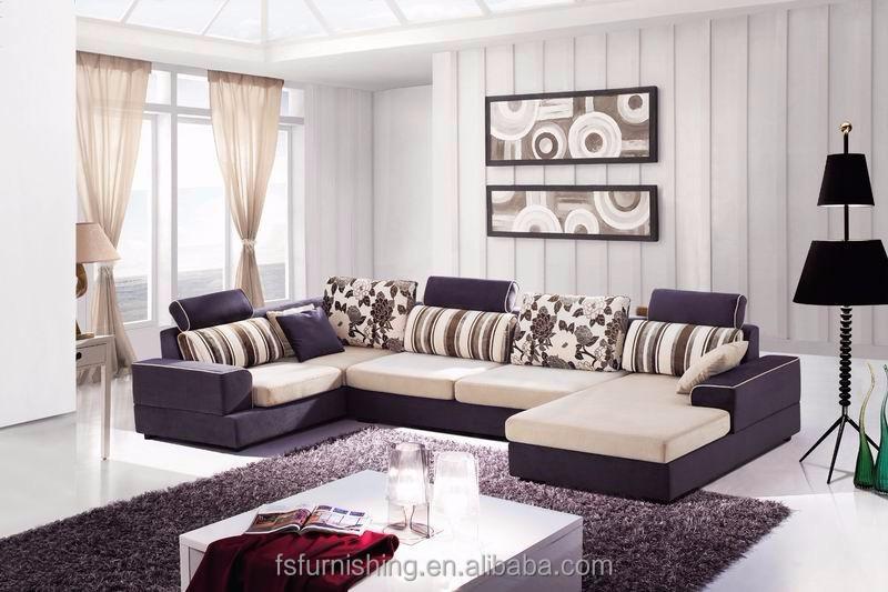 md608 moderne simple luxe bleu velours tissu salon en coupe meubles de maison en forme de - Salons Moderne En Velours