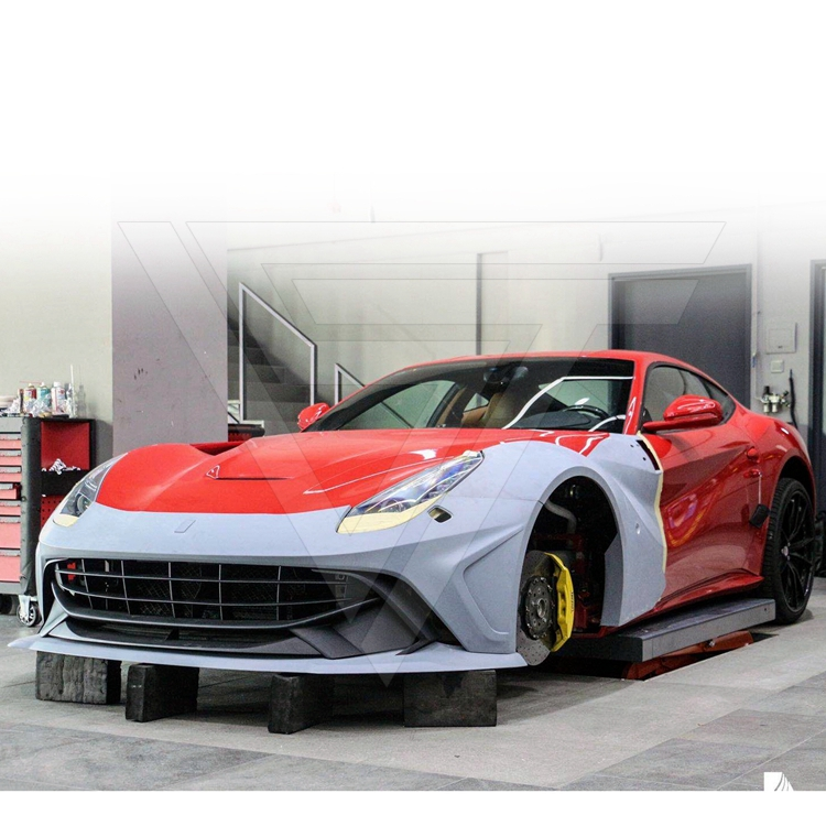 Duke Dynamics Stile Mezza In Fibra di Carbonio Kit Wide Body Per La Ferrari F12 Berilnetta 2013-2015