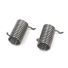 Memory metal and spiral torsion spring with hook