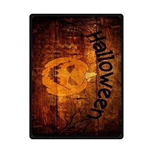 SOFTKIITY Custom Happy Halloween Pumpkin Blanket And Throws Travel Blankets Size 58inch x 80inch (Large)