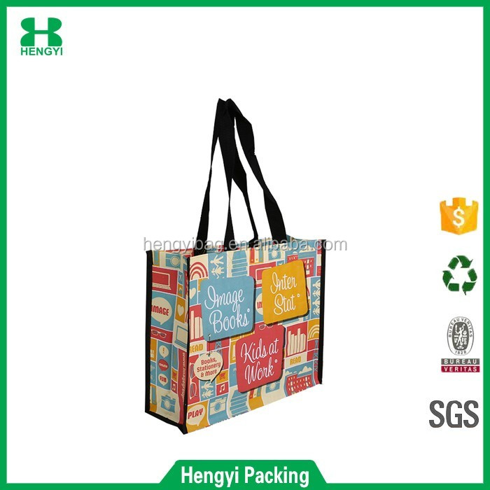 Grocery Laminated Recycled Shopper Tote is Very Large Gift Bag / Great Waterproof Beach Bag