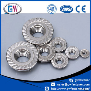 m16 m12 m10 m8 m6 flange serrated nut