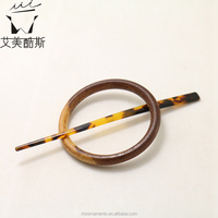 Acetate and wooden European style hair sticks hair accessories