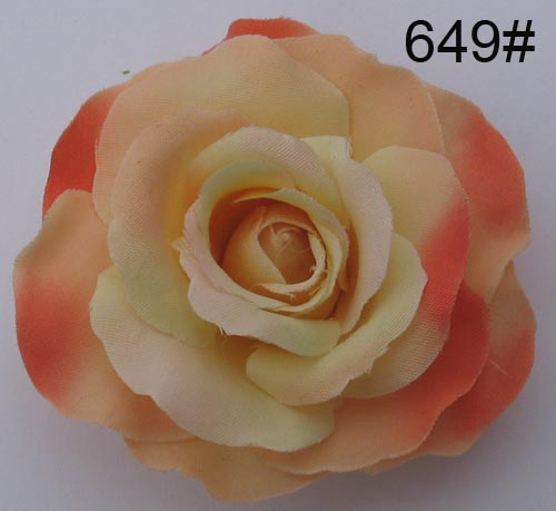 artificial rose bush in plast truck
