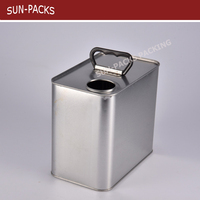 Paint can chemical oil can 2.5L 4L 5L rectangular square gasoline tin cans container