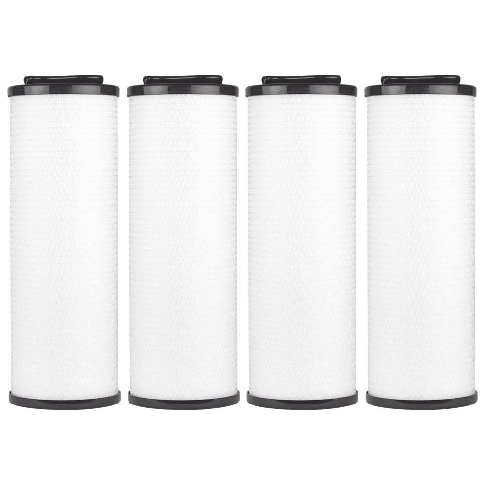 "Clear Choice CCP444 Pool Spa Replacement Cartridge Filter for Arctic Spa 006541, Silver Sentinel Filter Media, 5"" Dia x 13-7/8"" Long, [4-Pack]"