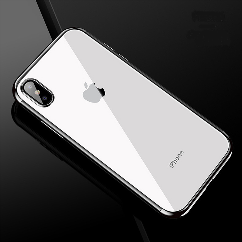 SIKAICASE TPU ברור טלפון מקרה עבור iPhone X כיסוי עבור אפל iPhone XS MAX XR מגן Electroplate מקרה עבור iPhone 6 7 8 בתוספת
