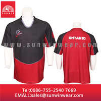 Elastic Rugby Jersey, Athletic Game Player's Sweat-wicking Apparel with Design for Easy Movement