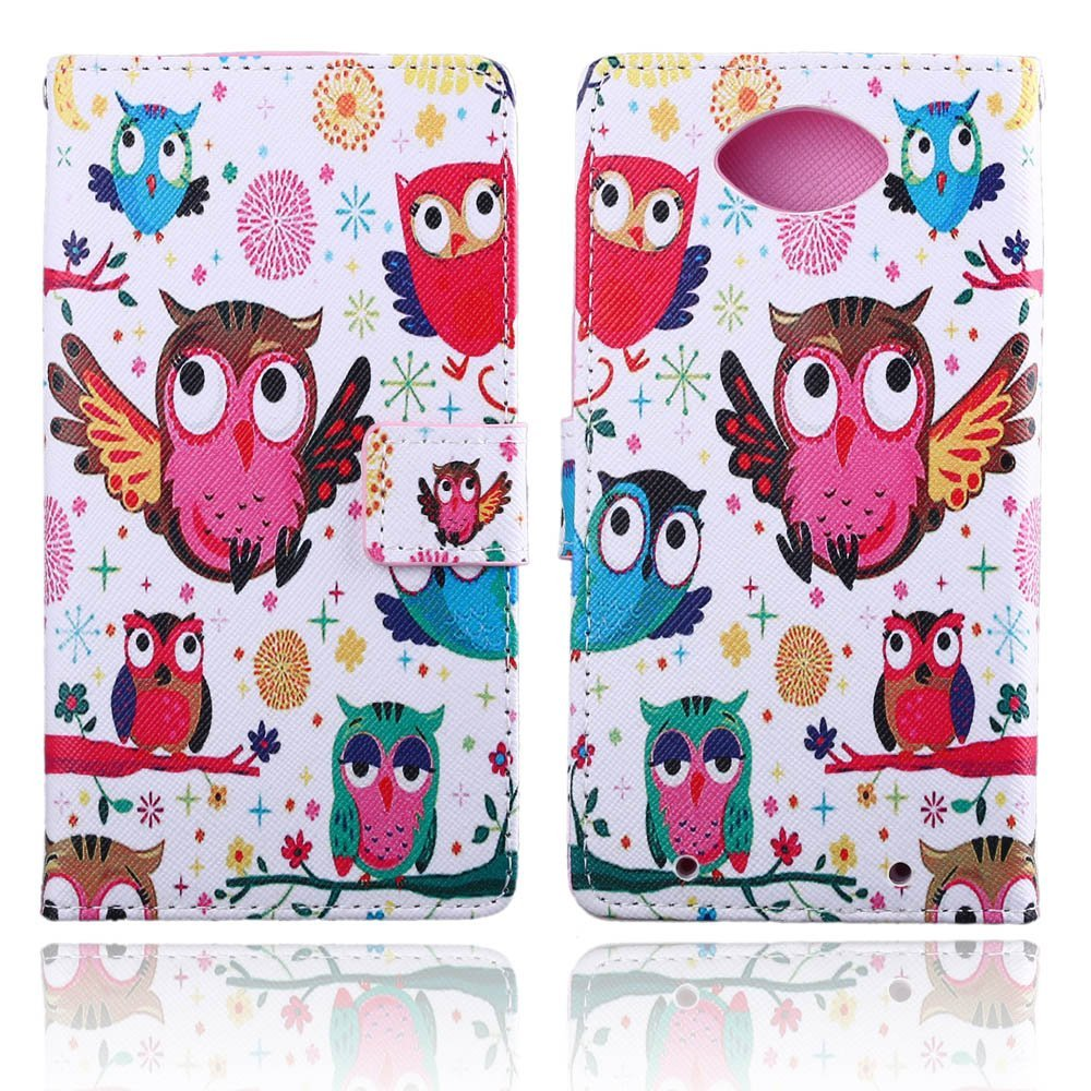 TOMYOU Moto Droid Turbo Case, Motorola XT1254 Wallet Case, Flip PU Leather Kickstand and Card Holder Phone Case Cover Skin Shell for Motorola Moto Droid Turbo XT1254 (Lovely Owl)