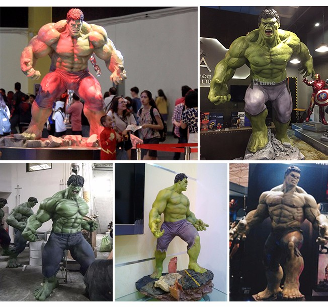 KANO8267 Traveling Exhibition Real Size Hulk Action Figure