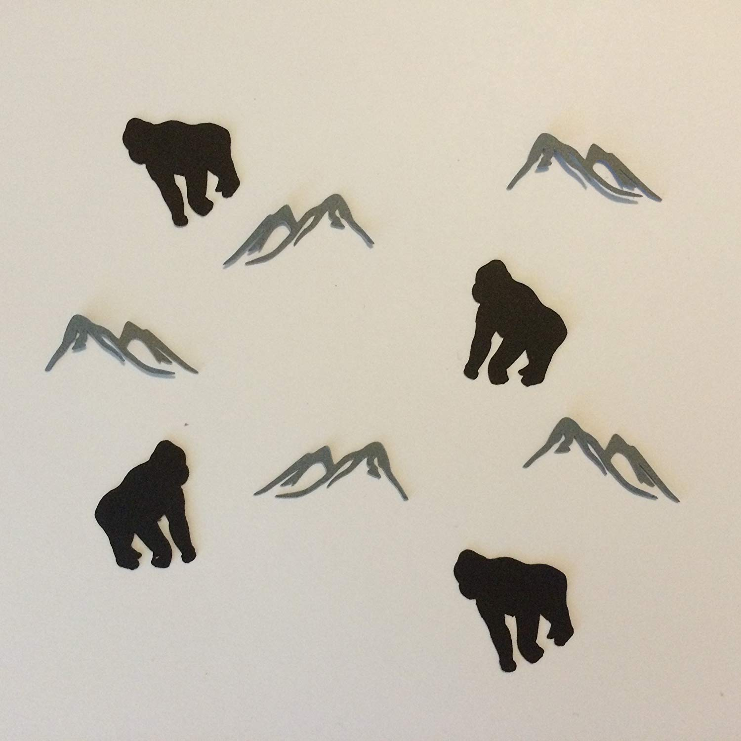 1in Confetti Set, Mountain Cut Outs, Gorilla Cut Outs, Monkey Theme, Animal Theme, Mountain Decorations, Monkey Party Supplies, Baby Shower Decorations, Table Scatter, Party Supplies, Confetti
