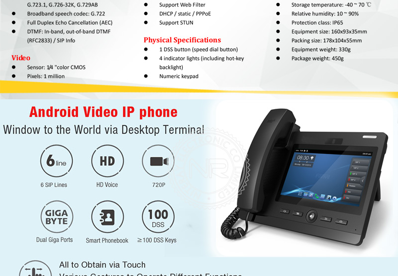 IP Door Access Control SIP Door Bell VoIP Door Phone Video Intercom System  Support PBX with PoE Function