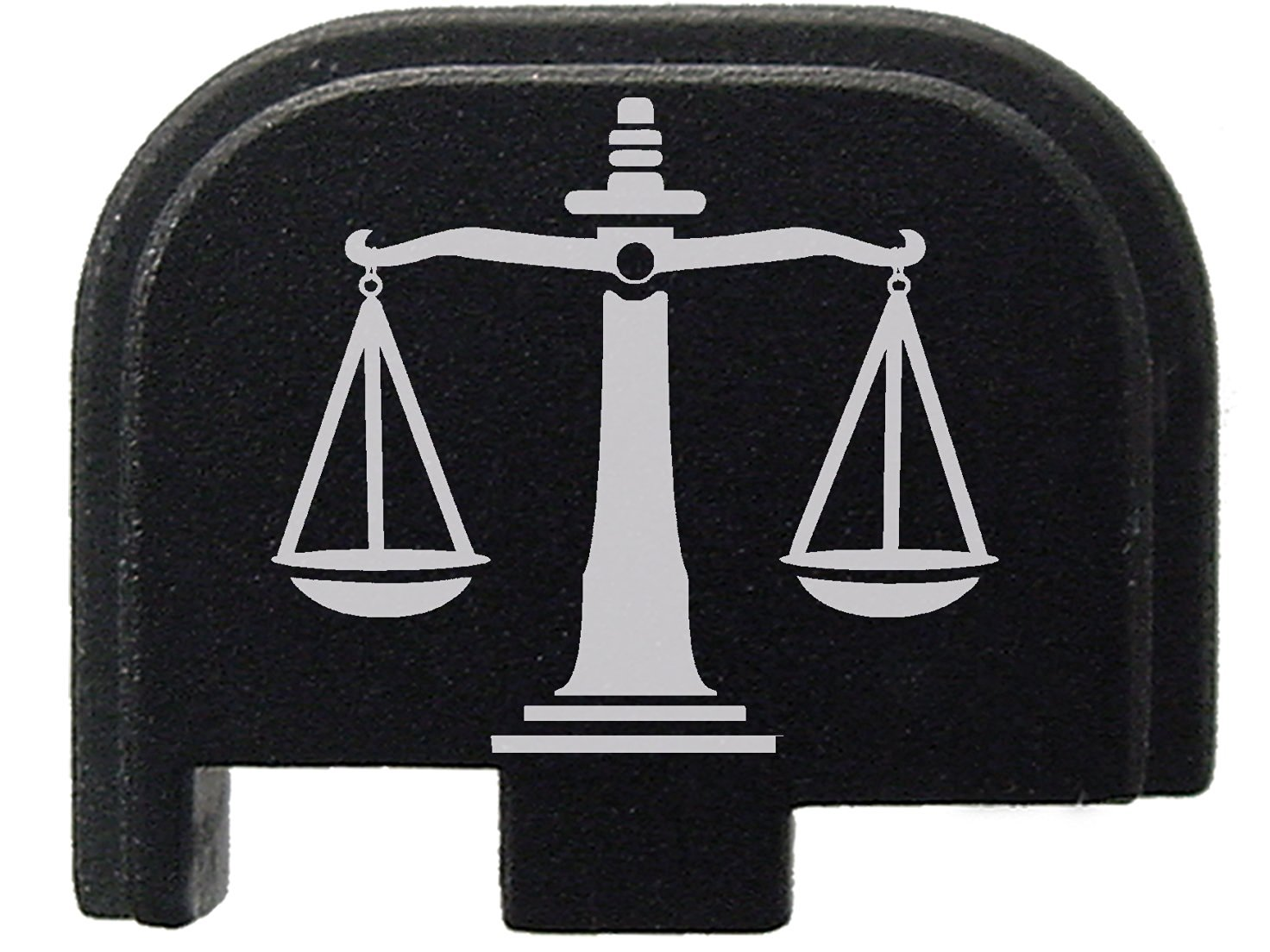 Black Rear Slide Cover Plate for Glock 42 G42 .380 ONLY Justice Scales By NDZ Performance