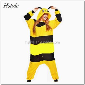 Musim Gugur Dingin Kartun Hewan Lebah Dipasang Wanita Onesie Dwy006
