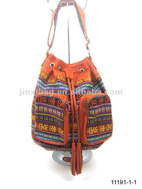 Fashion leisure coolest ethnic handbag , Folk style ladies bags,National style cotton bags