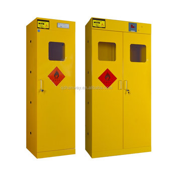 Full Steel Flammable Gas Cylinder Storage Cabinet Lab Furniture