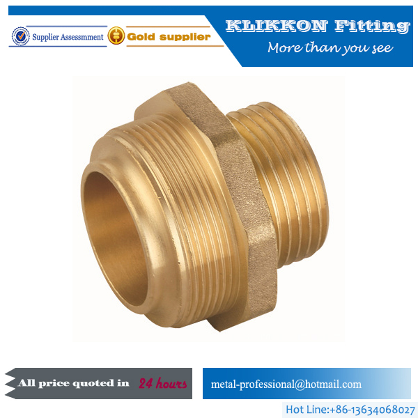 10 Years Manufacture Experience 1/4 Inch Degree Copper Brass swivel nipple pipe fitting