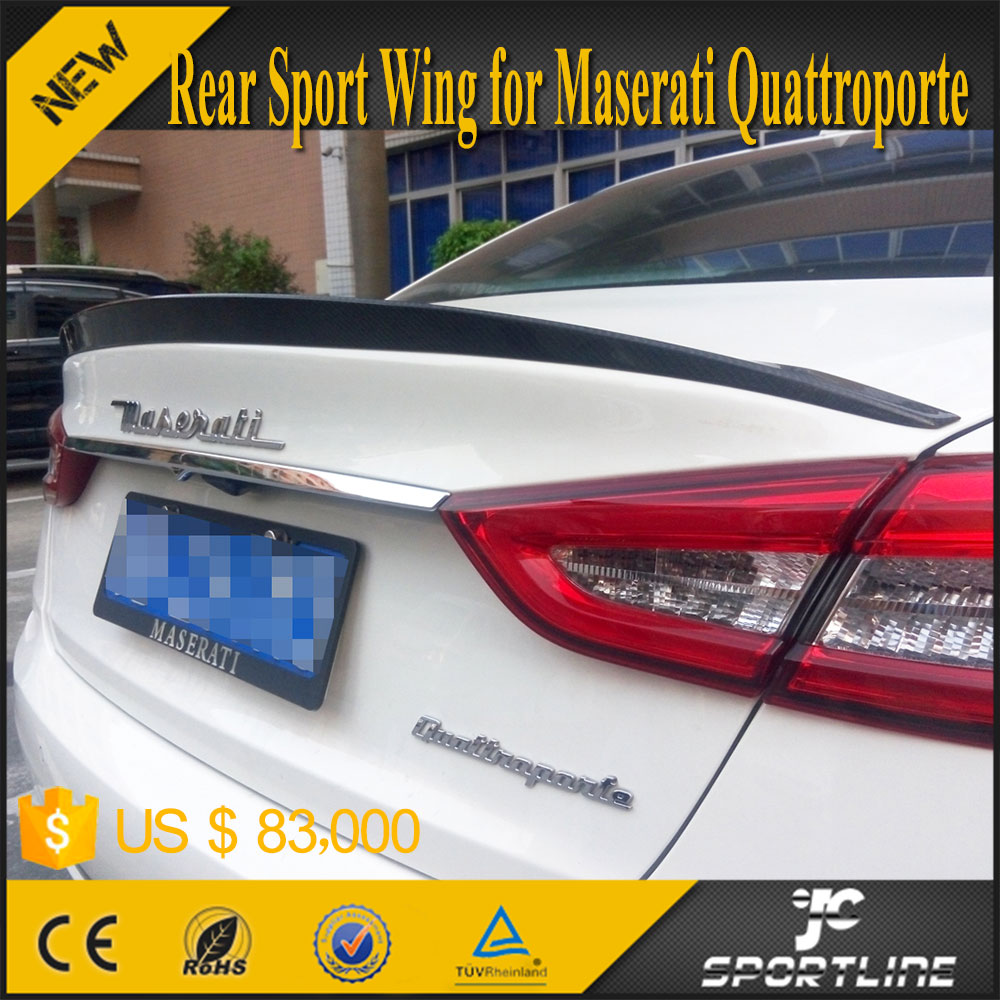 Carbon Fiber Rear Spoiler Wing for Maserati Quattroporte GT 13-15