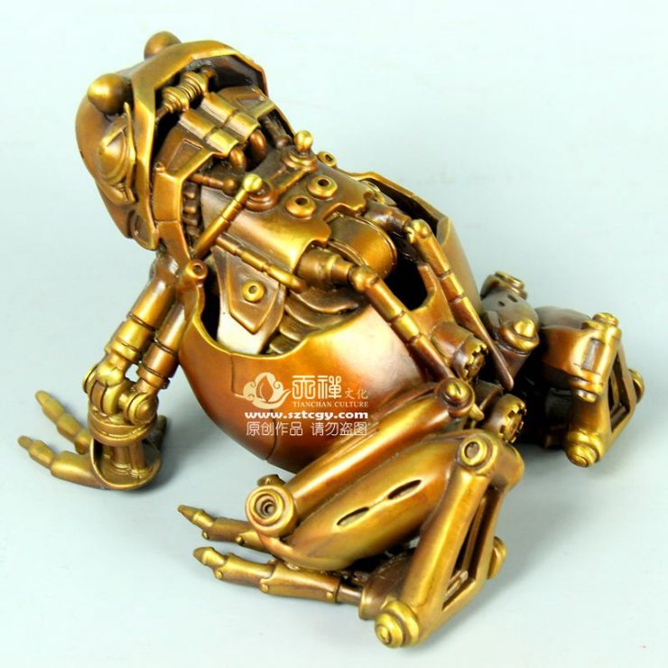 2019 Hot sale bronze frog statue customized brass frog animal statue