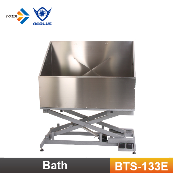 BTS-133E Pet Stainless Steel Bathtub Dog Washing Tub Electric Grooming Tubs