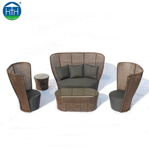 High quality resin rattan wicker outdoor patio furniture garden sofa set
