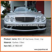 E63 W211 Ca Style Carbon Fiber Front Lip Spoiler For Benz - Buy ...