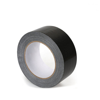 7.5mil x 48mm x 50m Black Duct Tape PE Backing Cloth Tape