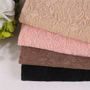 factory sell Elastic smooth silk Hollow lace fabric selling by yards For Wedding