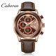 Caboren 2018 genuine leather de longe quartz wrist luxury men watch of ML2071G