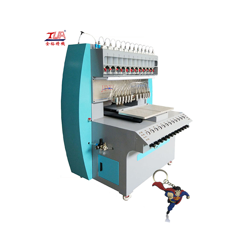 Full automatic keychain 3d pvc dispensing machine